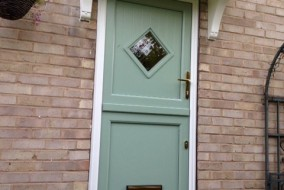 Green and White Special PVC sTABLE dOOR